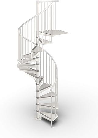 DOLLE - Escalera en espiral (metal, 1400 mm, varios colores), blanco: Amazon.es: Bricolaje y herramientas