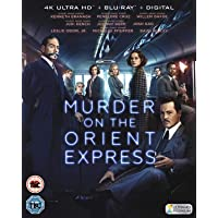Murder on the Orient Express (4K UHD + Blu-ray + Digital HD) (2-Disc Box Set) (Slipcase Packaging + Region Free + Fully Packaged Import)