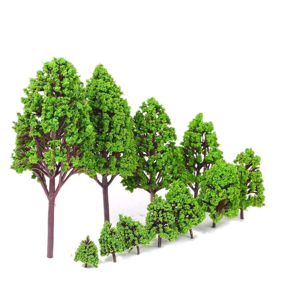 Jurenay Nouveau modèle de Jeu de Jouet 12 PCS en Plastique Modèles Arbres Modèles Architecturaux pour La Voie Ferrée Jardin Paysage Paysage Style 1 Convient à Tout Le Monde (Size : 2)