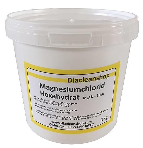 Cloruro de magnesio Hexa hydrat 1 kg - reinste Pharma lecturas de (E511) - Magnesio Chloride para fabricación de magnesiumöl, magnesio Spray, magnesio, ...