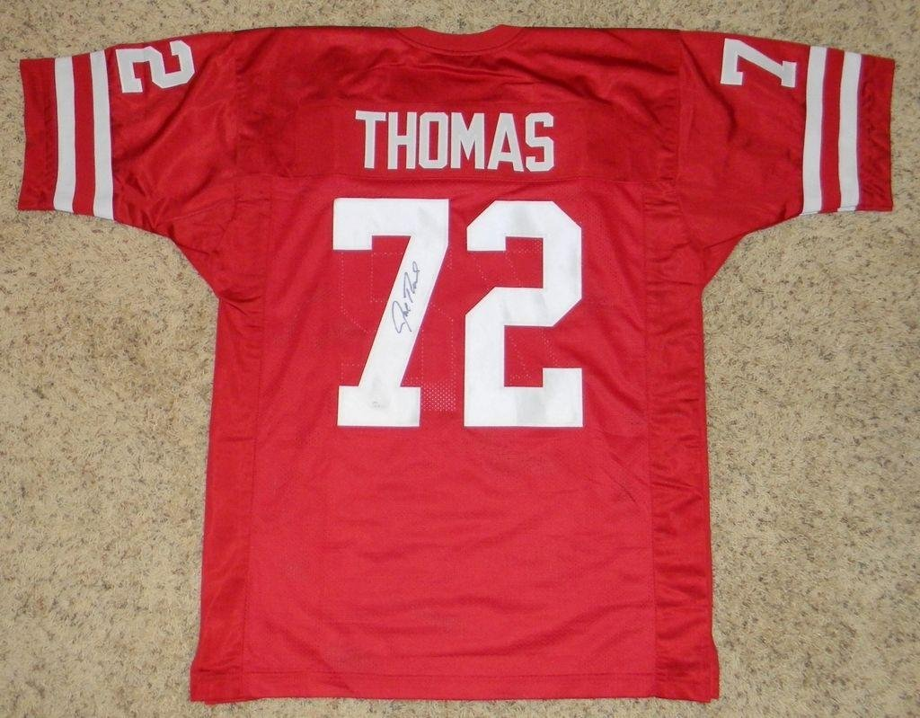 Amazon.com  Joe Thomas Autographed Jersey -  72 Red - JSA Certified -  Autographed College Jerseys  Sports Collectibles e63fdf0c4