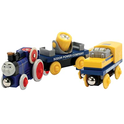 Learning Curve Thomas and Friends Wooden Railway Fergus and The Power Cars: Toys & Games