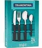 Tramontina Munique Tableware Set - 24 Pieces,Black