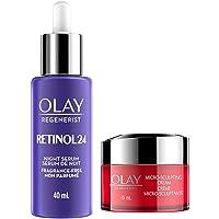 Olay Regenerist Retinol 24 Night Face Serum 40ml and Regenerist Micro-Sculpting Face Cream 15ml Trial Size