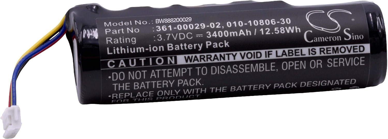 vhbw Li-Ion batería 3400mAh (3.7V) para Collar para Perros adiestrador como Garmin 010-10806-30, 010-11828-03, 361-00029-02