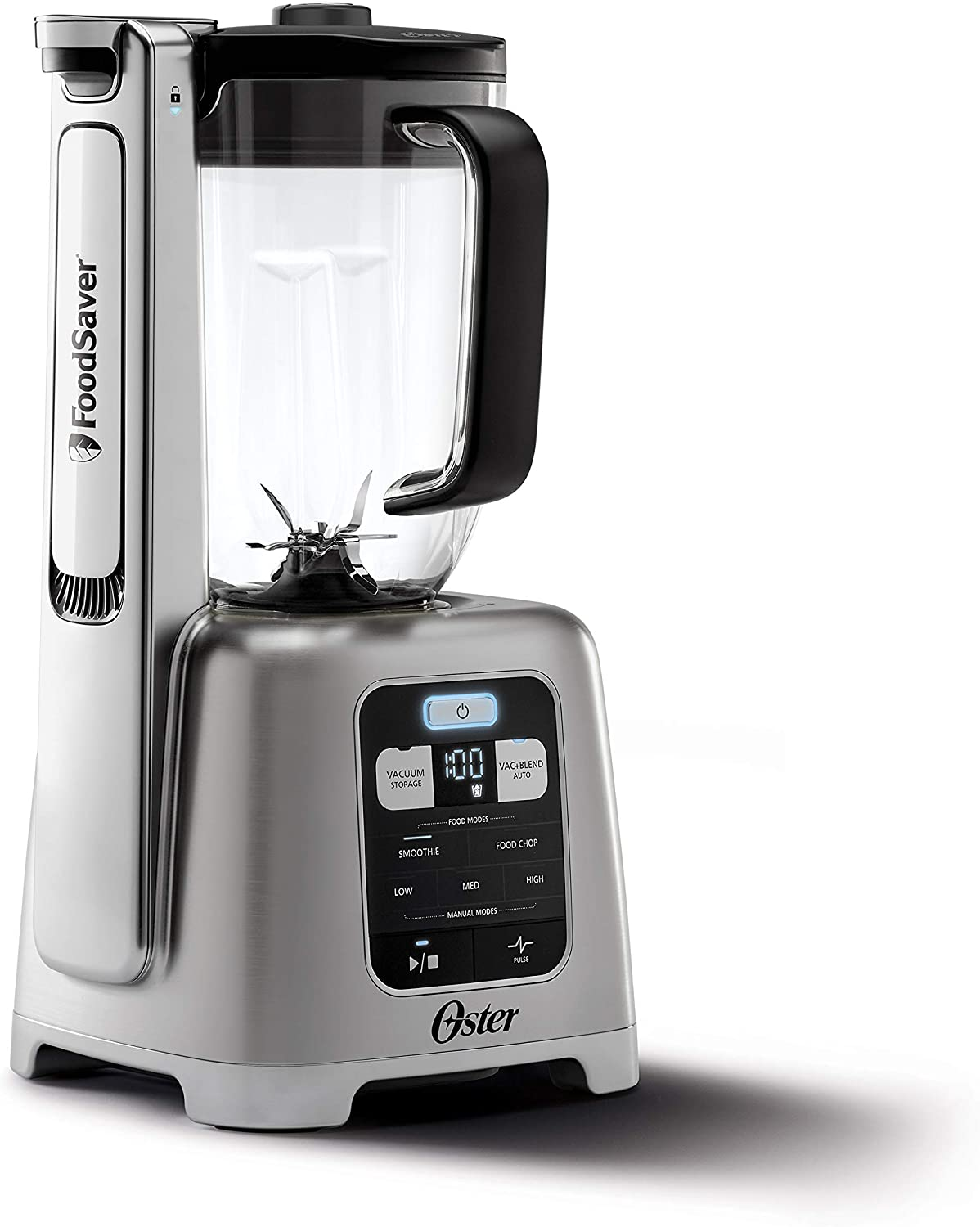 Oster BLSTAB-CB0-000 Blender with Vacuum Technology, Brushed Nickel (Renewed)