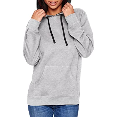 9301 Next Level Unisex French Terry Pullover Hoody-Heather Gray/ Black-XX-Large