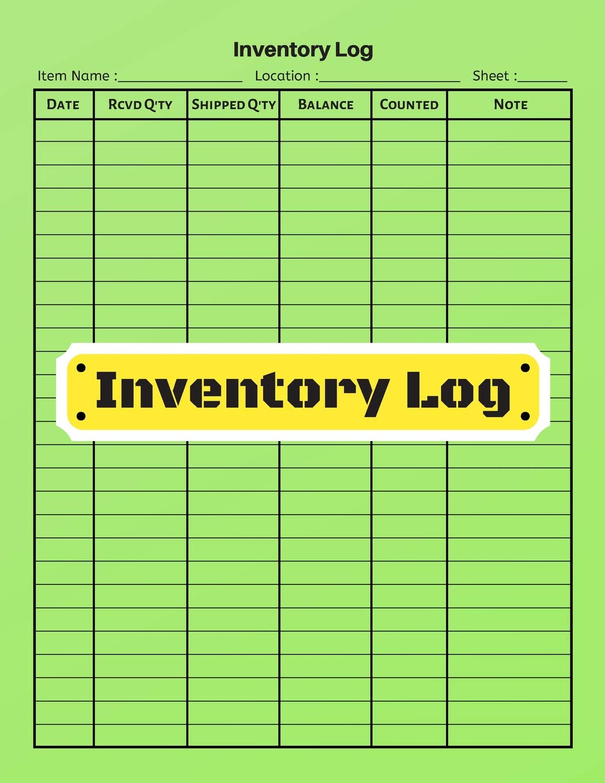 Buy Inventory Log V 7 Inventory Tracking Book Inventory