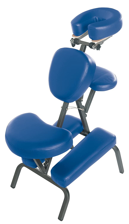 3B Scientific W60606B-1 PVC Vinyl Pro Massage Chair, 500-Pound Capacity, Blue