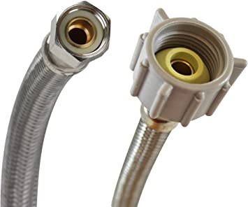 AN-3    58 In Long Stainless Steel Braid PTFE Hose Assembly both straight BC