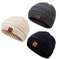 Deals on 3-Pack Redess Kids Fleece-Lined Knit Beanie
