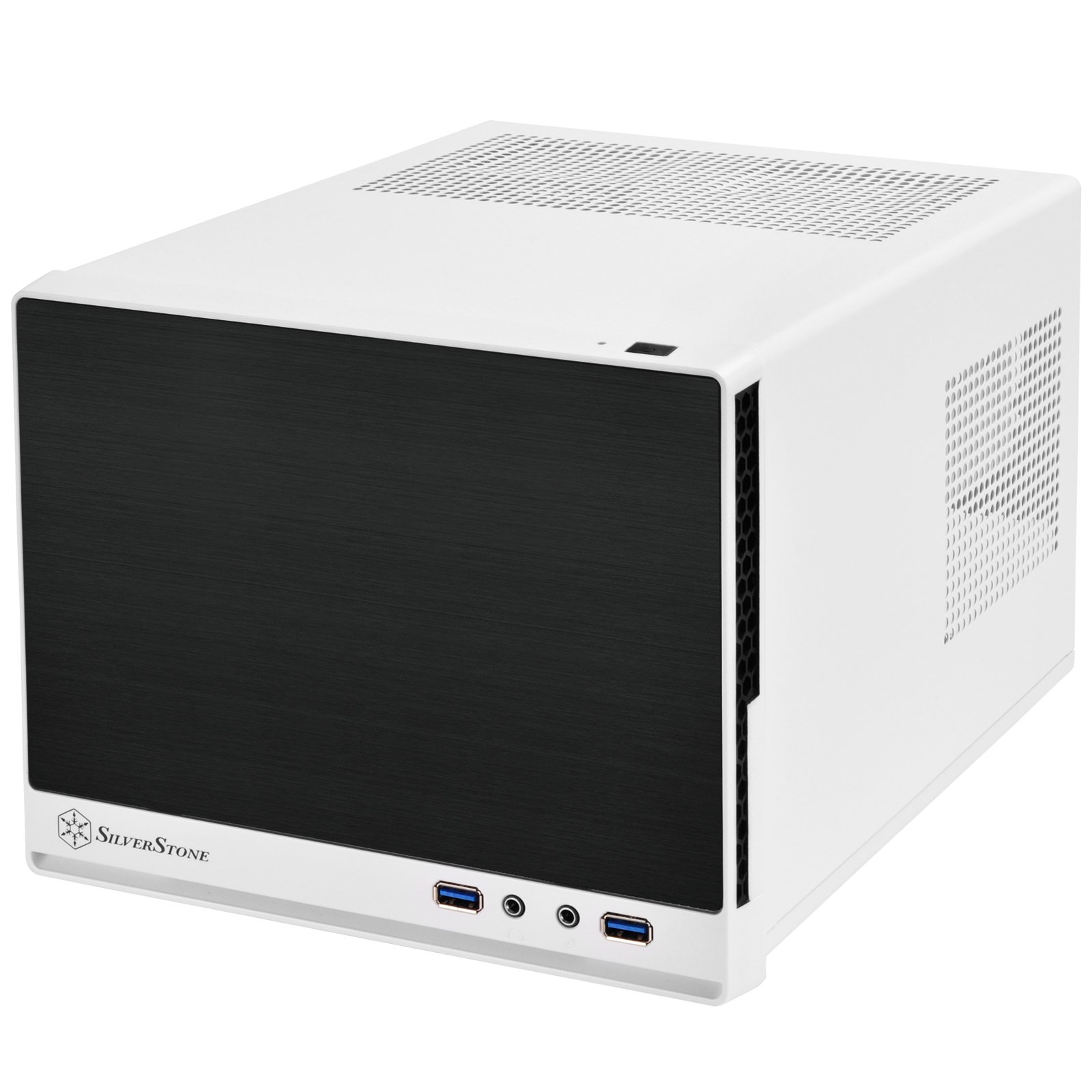 SilverStone Technology Mini-DTX Small Form Factor Computer Case SG13WB-Q Black/White