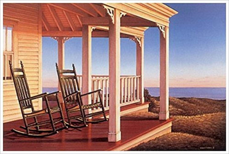 Buyartforless Crepúsculo en la terraza por Daniel Pollera 36 x 24 Coastal Art Print Póster: Amazon.es: Hogar