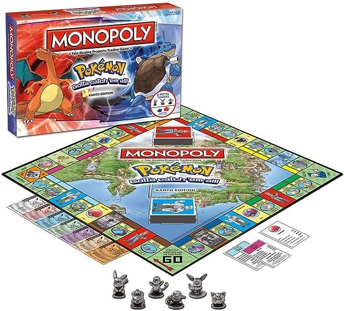 KTops Monopoly Pokemon Juego de Cartas Juego de Mesa, Pokemon Monopoly Familia Juego de Mesa para Las Edades de 8 y para Arriba, 2-6 Player (Versión Clásica): Amazon.es: Hogar