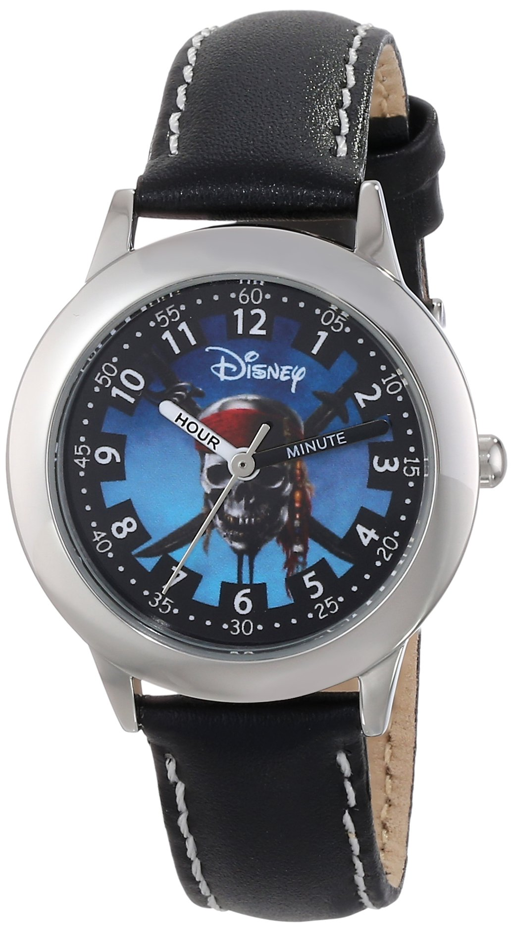 Disney Kids' W000155 ''Pirates of the Caribbean'' Stainless Steel Time Teacher Watch