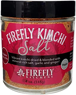 product image for FIREFLY KITCHENS Firefly Kimchi Salt | A Bright Freeze-Dried Ferment-Infused with Mineral-Rich Salts and Organic Spices | Vegan | Packed in Glass | Popcorn Topper | Glass Rim Salt