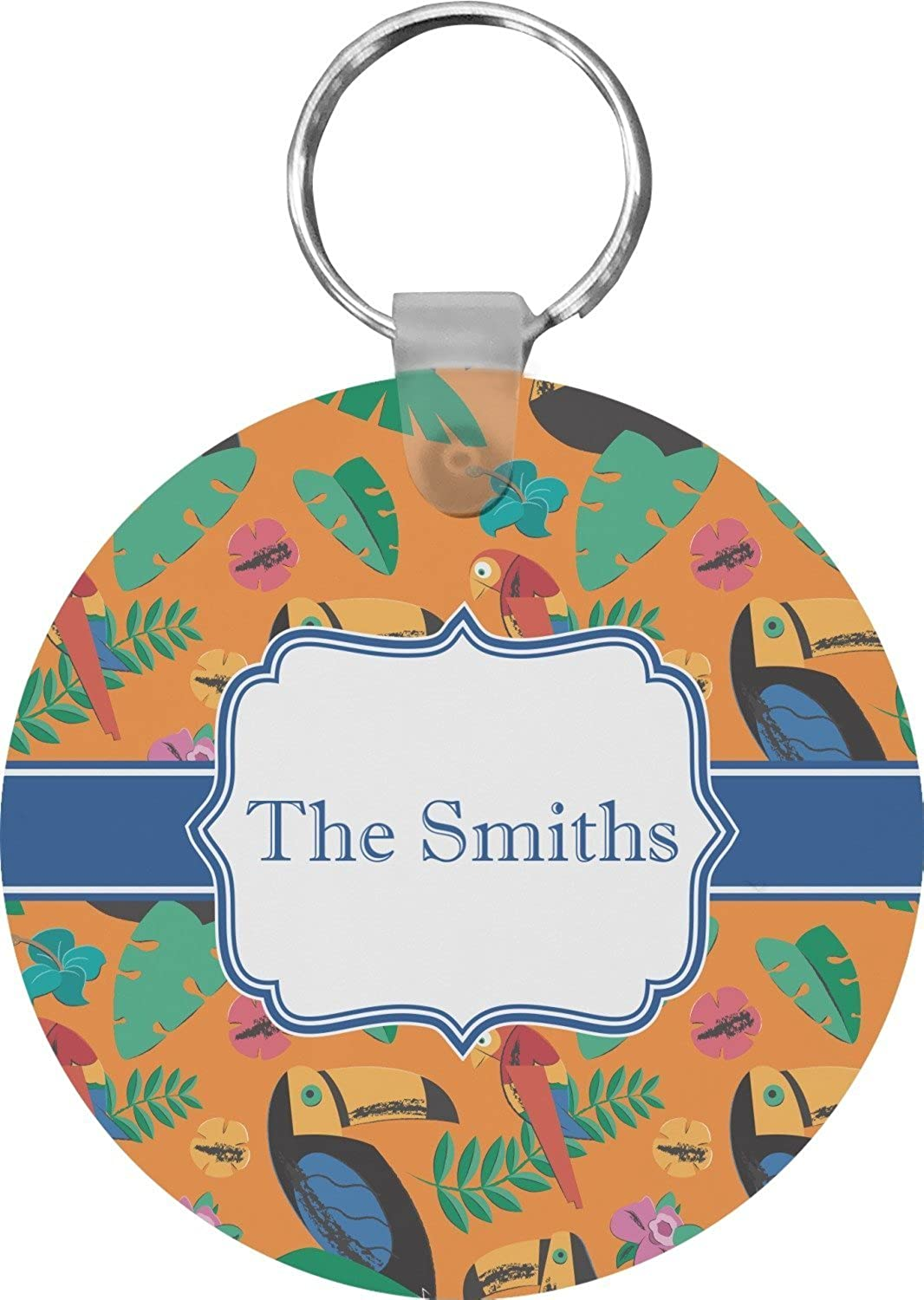 Toucans Round Keychain (Personalized)