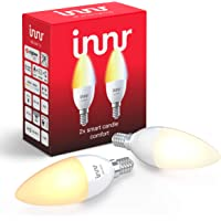 Innr E14 Smart LED-kaarslamp, tunable white, compatibel met Philips Hue* & Alexa (bridge vereist), warm wit tot daglicht…