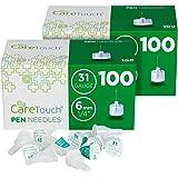 Care Touch Insulin Pen Needles 31 Gauge, 1/4 Inches, 6mm - 200 (2x100) Pen Needles