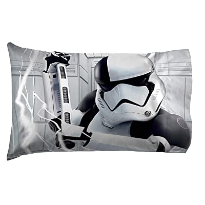 JayFranco&Sons Star Wars Stormstroopers & Chewbacca Double Sided Standard Pillowcase: Home & Kitchen