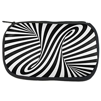 Amazoncom Trippy Black And White Swirl Makeup Bag Multi Standard
