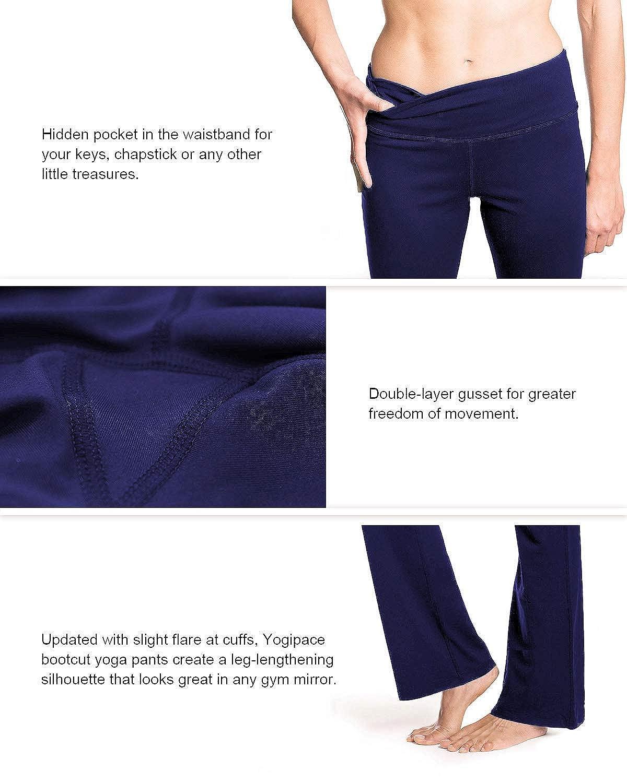e59e35cf29eb8 Sports & Fitness Womens Bootcut Yoga Pants Long Workout Pants Clothing  Yogipace ...