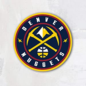 Denver City Nugget Basketball Sport Team Logo Vinyl Sticker Die-Cut Decal Label Emblem Symbol - 12'' x 12''
