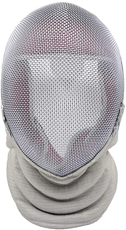 ThreeWOT Fencing Mask Fencing Epee Mask,350N CE Certification Fencing Epee Protective Gear Contain Storage Bag
