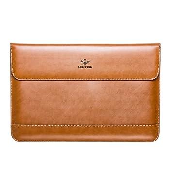 e267a6194d Housse de Protection d'Ordinateur portable LENTION-Split Leather Sleeve,  Etui en cuir