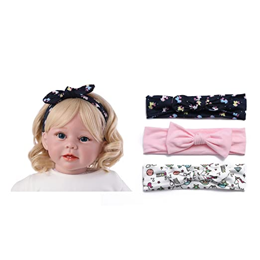 f3d388957 Baby Headbands for Girl with Bows Baby Hair Accessories,Infant Toddler  Headwraps, Hairbands (