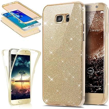a62bd9f31bb Uposao Funda Compatible con Samsung Galaxy S7 360 Grados Integral Ambas  Carcasa, Funda 360 Full