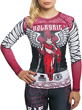 Hardcore Training Valkyrie Rash Guard Women Camisa de Compresión Manga Larga Mujer Fitness No Gi Yoga Workout Gimnasio MMA: Amazon.es: Deportes y aire libre