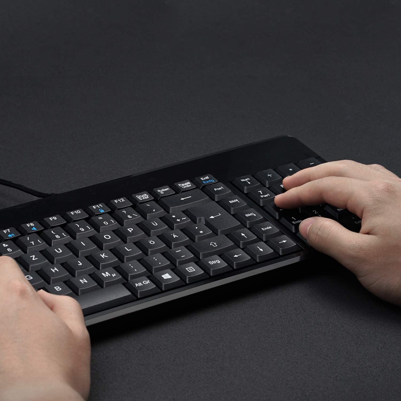 Perixx Periboard 220 U Usb Tastatur Deutsch Qwertz Computer Zubehör