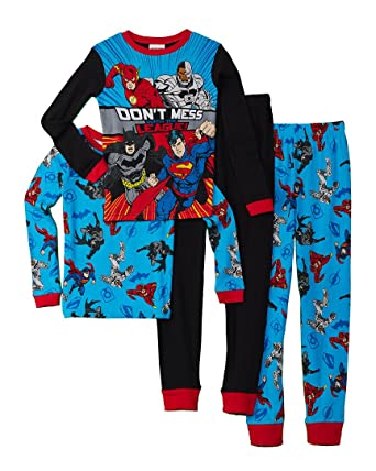 ea2a71d41730 Amazon.com  DC Comics Boys  Batman Superhero 4-pc Pajama
