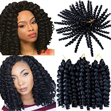 Amazon vrhot 3packs 8 wand curl crochet hair jamaican vrhot 3packs 8 wand curl crochet hair jamaican bounce braids synthetic hair extensions ombre pmusecretfo Choice Image