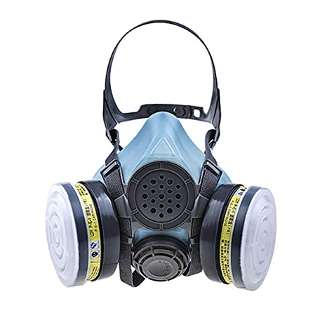 Objective Gas Mask Dual Anti-dust Spray Paint Industrial Chemical Gas Respirator Mask Glasses Set Black Health Care