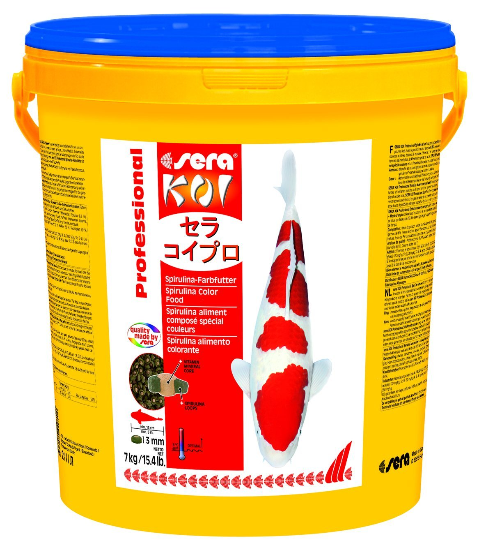 sera 7036 KOI Professional Spirulina Color 15.4 lb 7 kg Pet Food, One size
