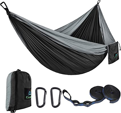 Camping Double /& Single Portable Hammock|Parachute Nylon|Hammock Backpacking for Indoor Outdoor Backpacking Hiking and Garden. Travel Yard Beach