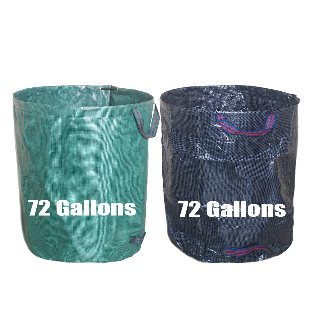 132 Gallons Garden Waste Bag/Extra Large Heavy Duty Gardening Containers/Reusable Leaf Bags (1-Pack Green) EarlyGreen