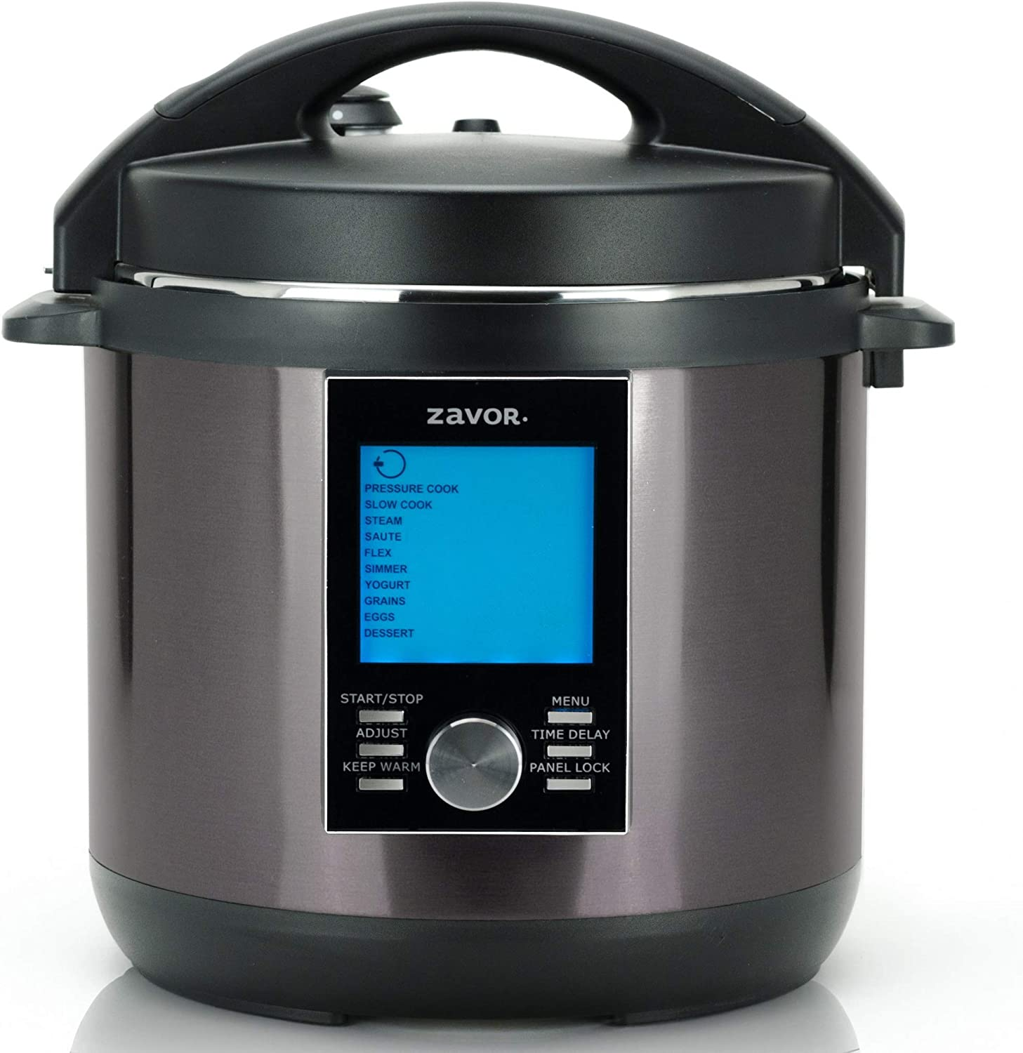 Zavor LUX LCD 6 Quart Programmable Electric Multi-Cooker: Pressure Cooker, Slow Cooker, Rice Cooker, Yogurt Maker, Steamer and more - Black (ZSELL22)