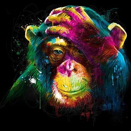 5D Diy Diamond Painting Monkey Animal Full Round Diamond Embroidery Cross Stitch