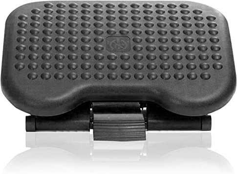Amazon Com Under Desk Foot Rest Black Footstool Office Ergonomic Footrest Adjustable Angle 3 Different Height Positions Great For Home Work Furniture Decor