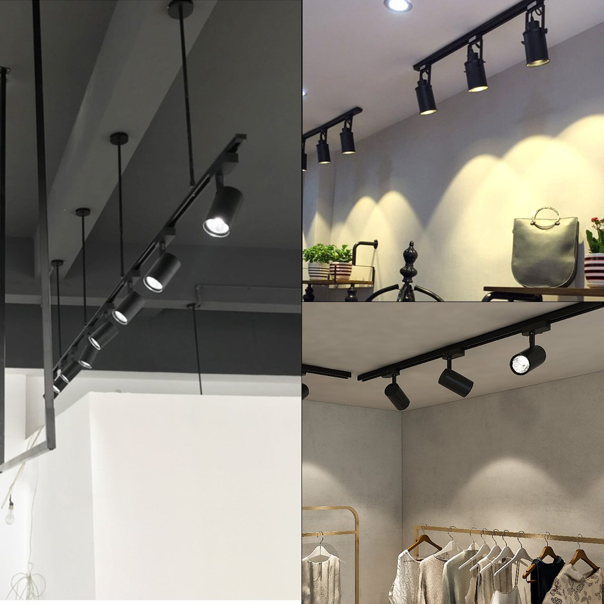 Betorcy 36W LED Track Lighting Heads, Direct-Lighting Fixtures, (CRI 90+) High Color Rendering, Daylight White 4000K, Designed for Home, Showroom, Shop, Art Lighting by Betorcy (Image #5)