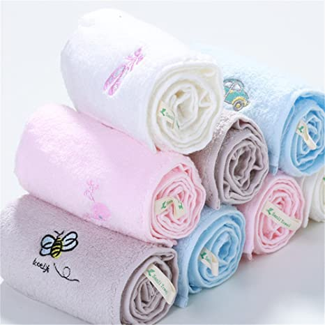 MF 30 x 55 cm 100% algodón bordado dibujos animados patrón suave bebé niños toalla