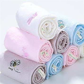 MF 30 x 55 cm 100% algodón bordado dibujos animados patrón suave bebé niños toalla de cara de la mano (gris), azul, 30x55cm: Amazon.es: Hogar