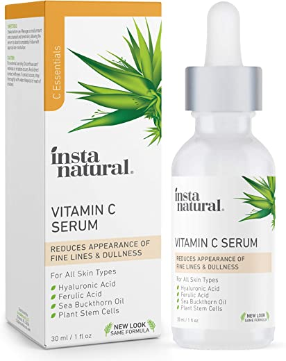 InstaNatural Vitamin C Serum with Hyaluronic Acid & Vit E - Natural...