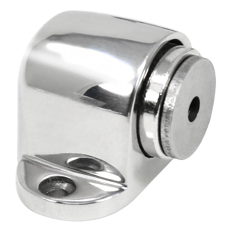 5,4 x 3,6 x 3 cm Acciaio Inossidabile lucidato V2-02 Pezzi Porta Stop con Il Magnete COM-FOUR/® 2X fermaporta in Acciaio Inox Lucido