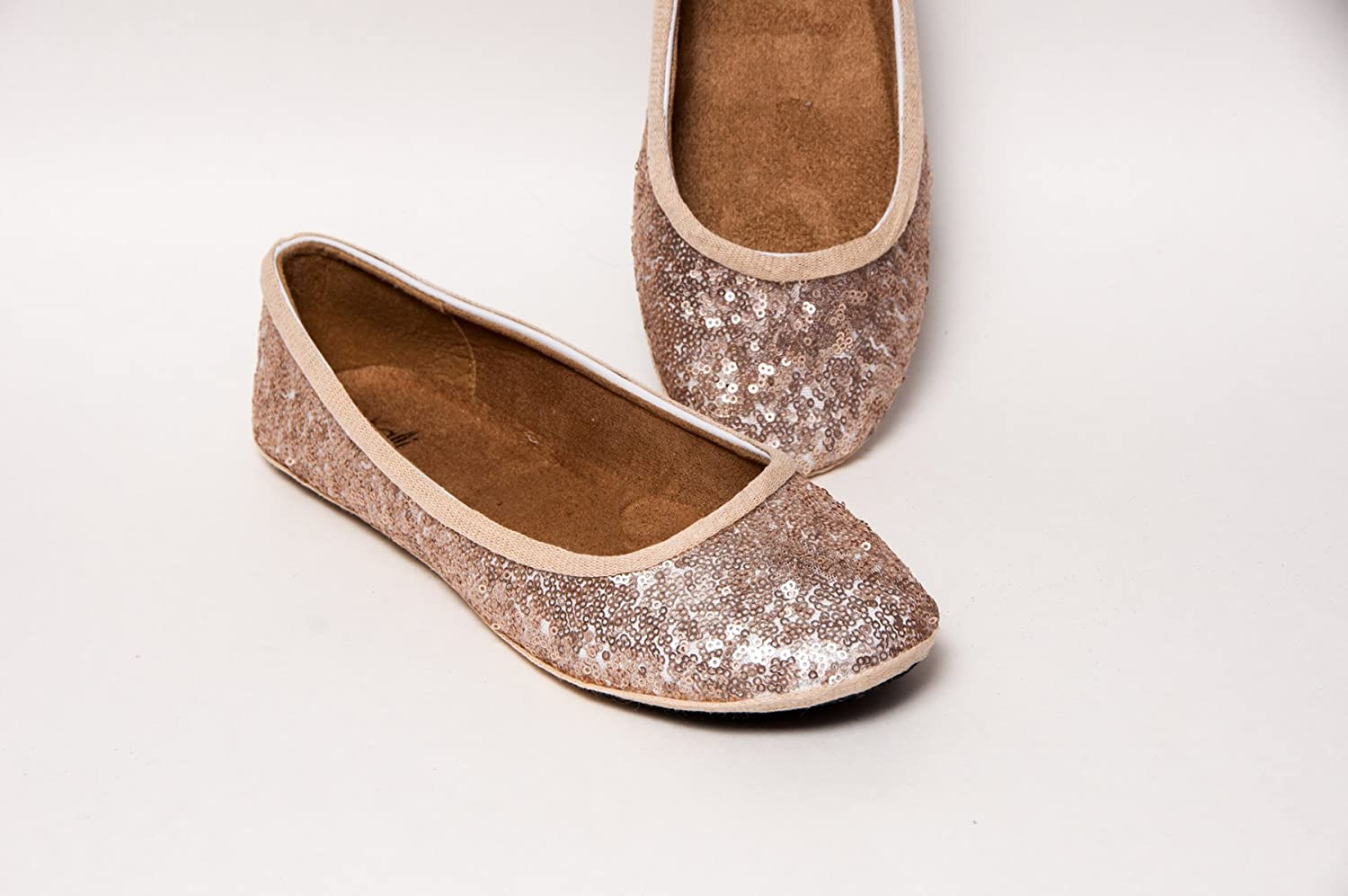 Champagne Gold Ballet Flats Slippers Shoes