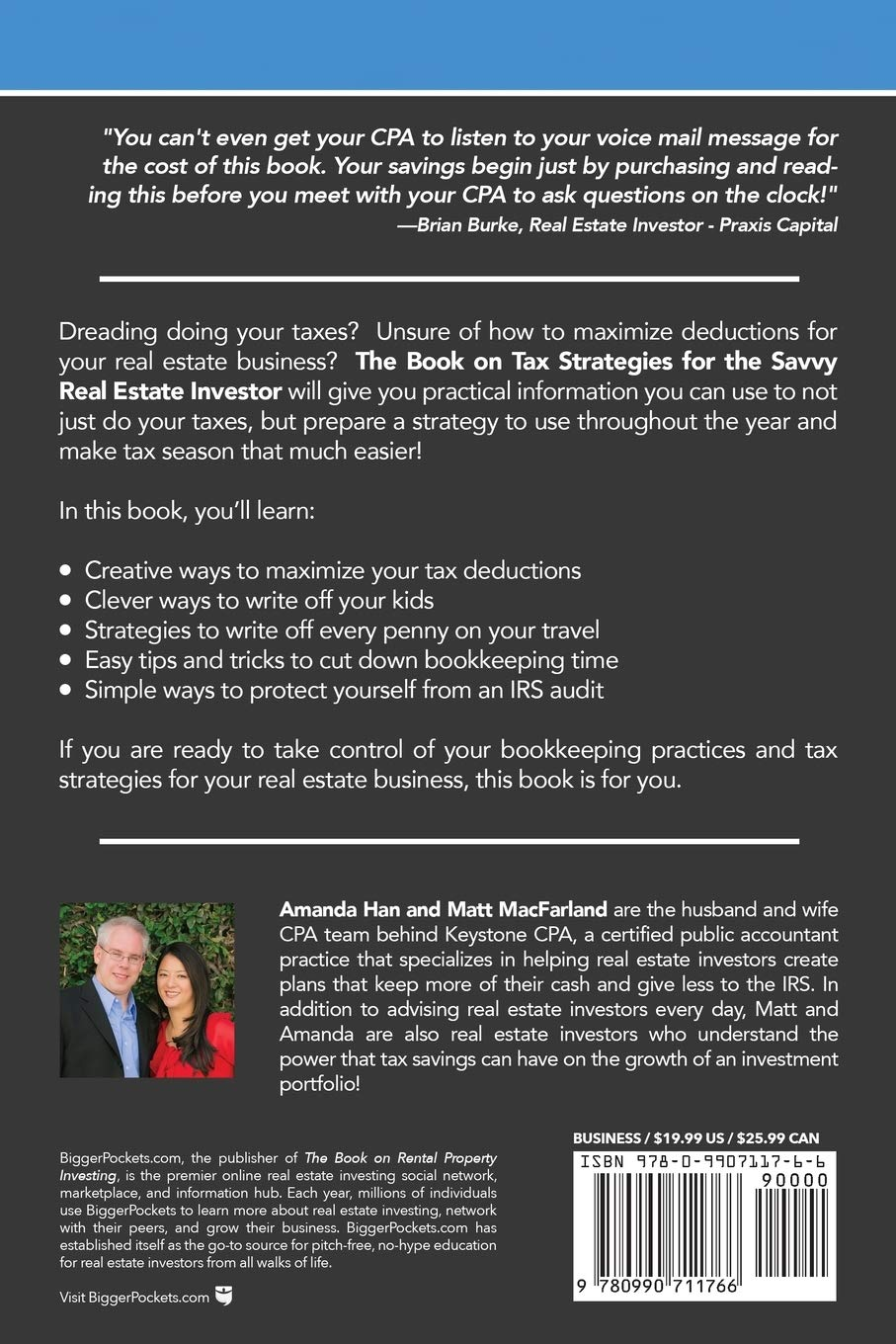 The Book on Tax Strategies for the Savvy Real Estate