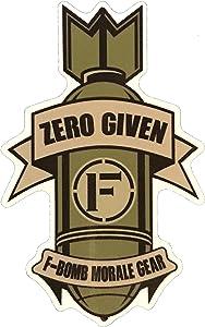 F-Bomb Morale Gear Zero Given - Bumper Sticker Decal